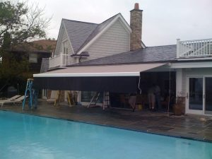 Retractable Awning Installation on Long Island North Shore