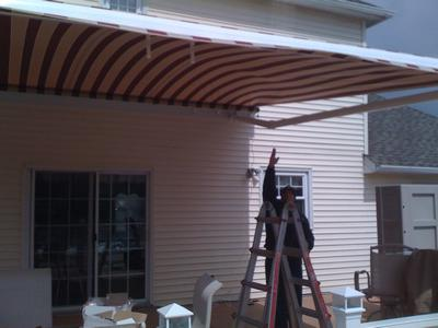 Huge Oversized Awning Installation