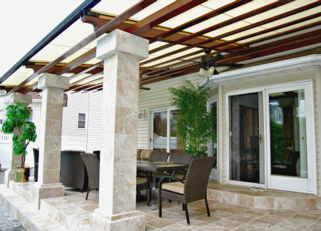 top mounted pergola covers