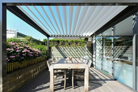 Louvered Pergola Breslow Home Design