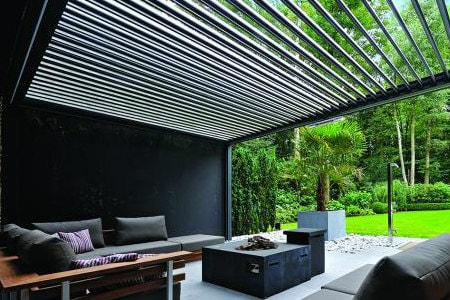 Louvered Roof Canopy Breslow Home Design Center