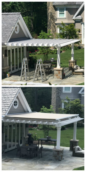 pergola with retractable awning NJ