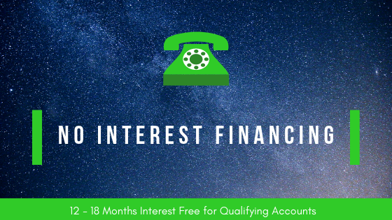 Current Promotions Interest Free Financing