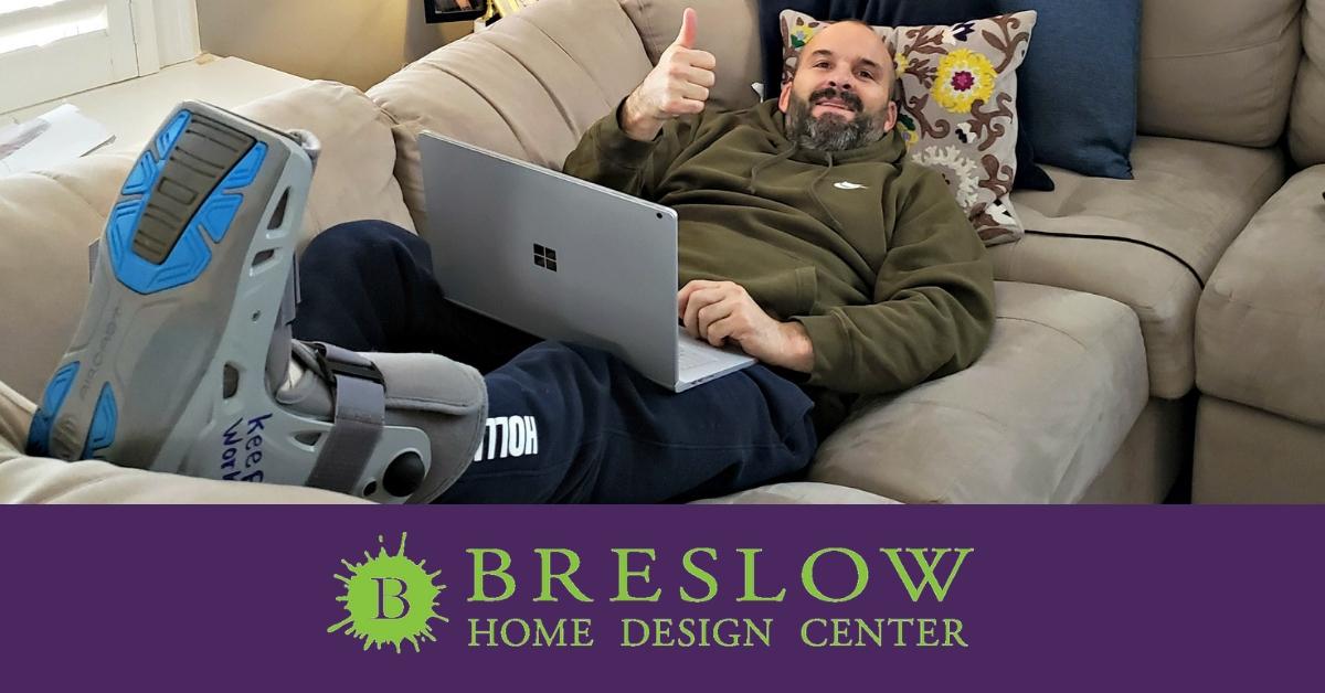 Breslow Paint Store Chester, NJ – A Broken Leg Won't Slow Us Down!