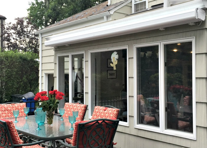 NuIMage Awnings K300 Fully Cassetted - installed by Breslow Home Design Center