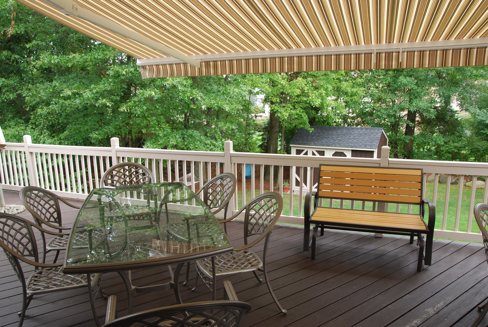 Eclipse Awning - Under View - by Breslow Home Design Center