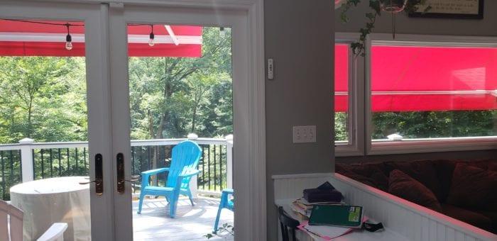 Awning Installation in Bernardsville NJ by Breslow Home Design Center