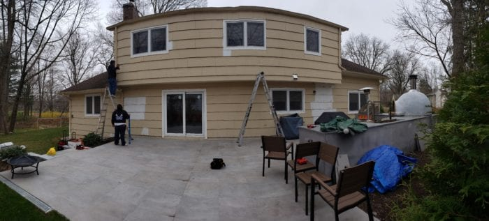 Home before Installation of Alutex Solaria Retractable Canopy - Chatham NJ | Breslow Home Design Center