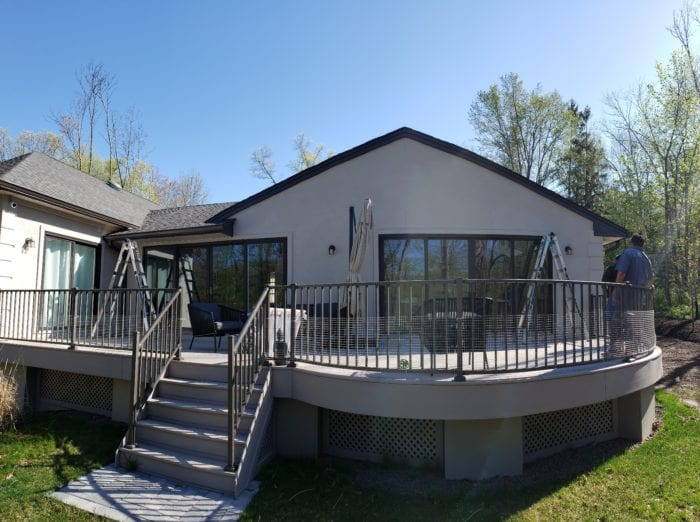 Watchung NJ Home Pre Awning Installation | Breslow Home Design Center