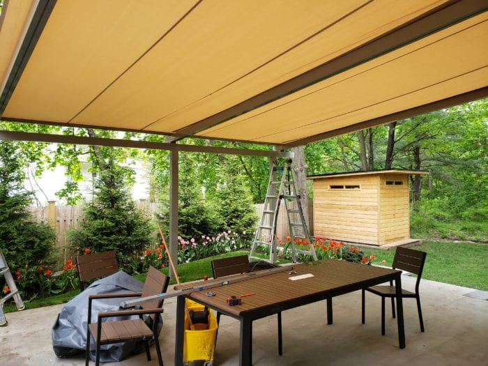 Covered Frame for Alutex Solaria Retractable Canopy - Chatham NJ | Breslow Home Design Center