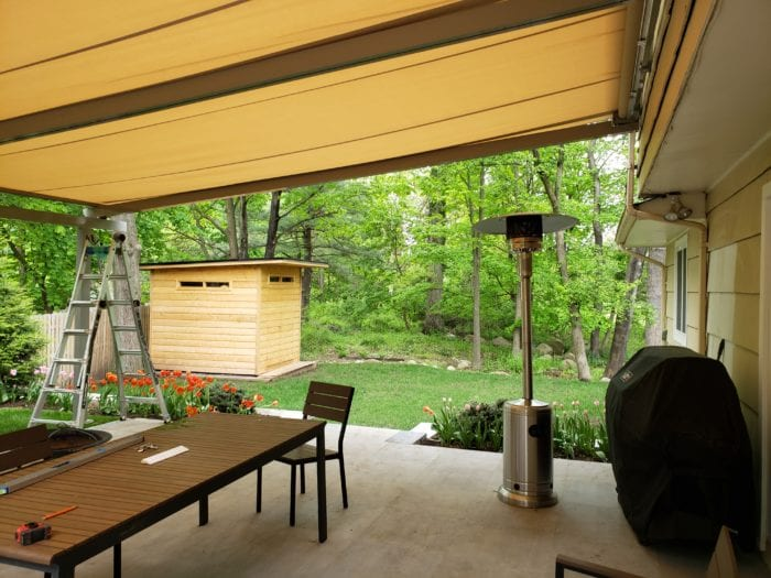 Under View of Alutex Solaria Retractable Canopy - Chatham NJ | Breslow Home Design Center