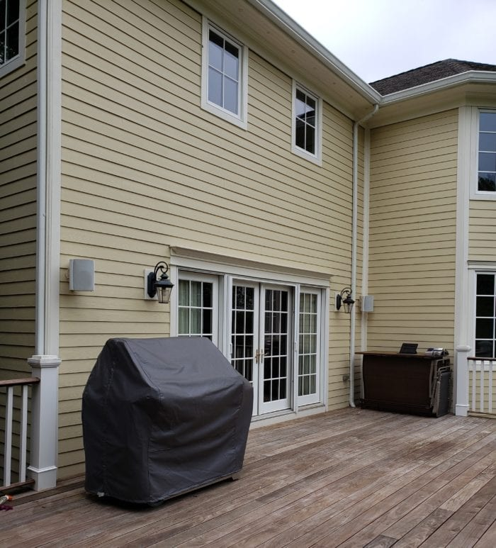 Aristocrat Manor Awning Installation (before) in Chatham NJ by Breslow Home Design Center