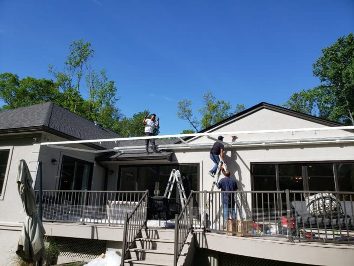Watchung NJ Home Awning Frame Installation | Breslow Home Design Center