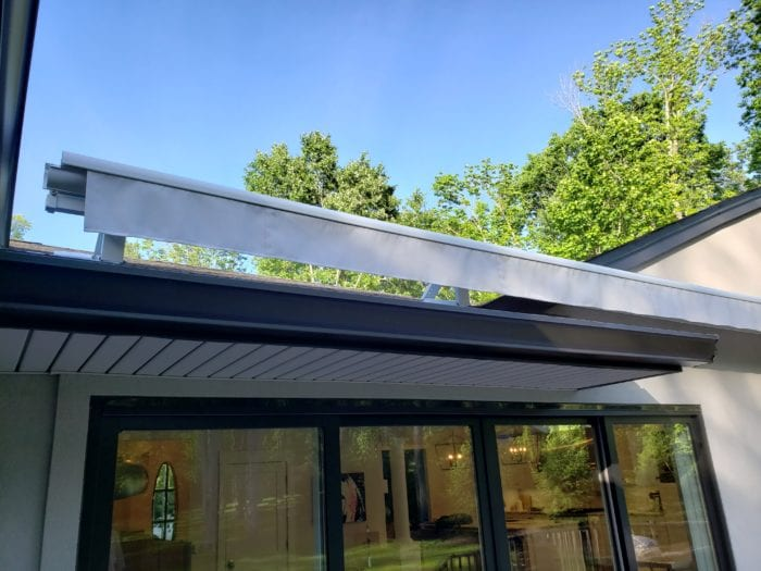 Watchung NJ Home Awning Valance Installation | Breslow Home Design Center