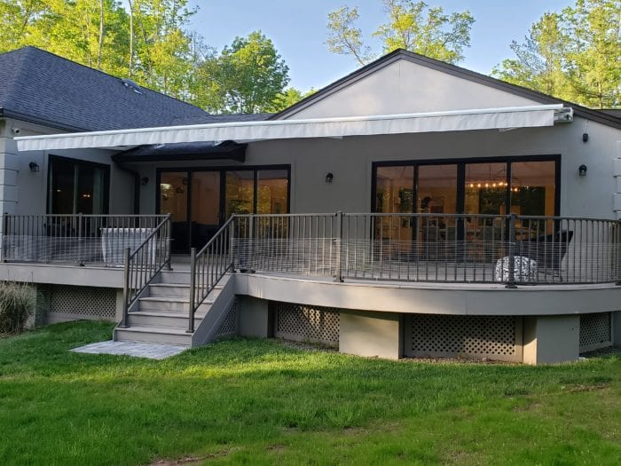 Watchung NJ Home Awning Installation - Awning Extended | Breslow Home Design Center