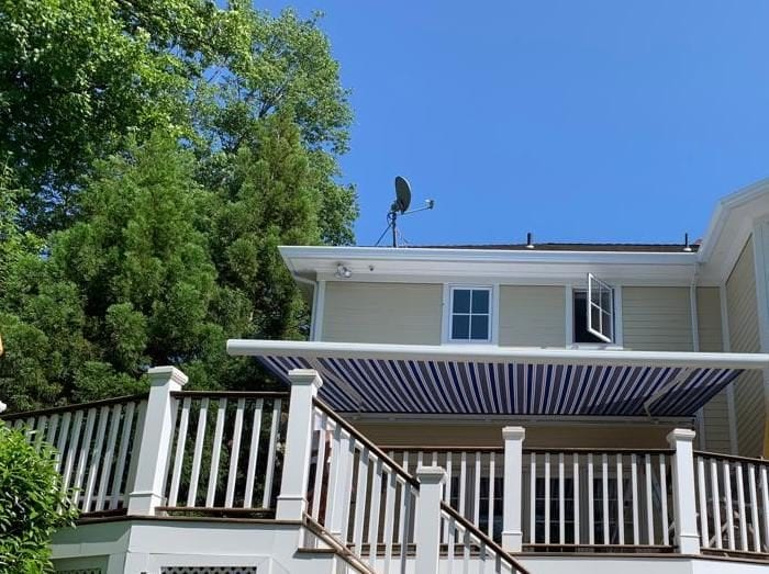 Aristocrat Manor Awning Installation (extended) in Chatham NJ by Breslow Home Design Center