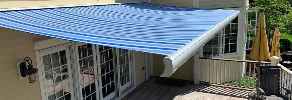 Aristocrat Manor Awning Installation in Chatham NJ by Breslow Home Design Center