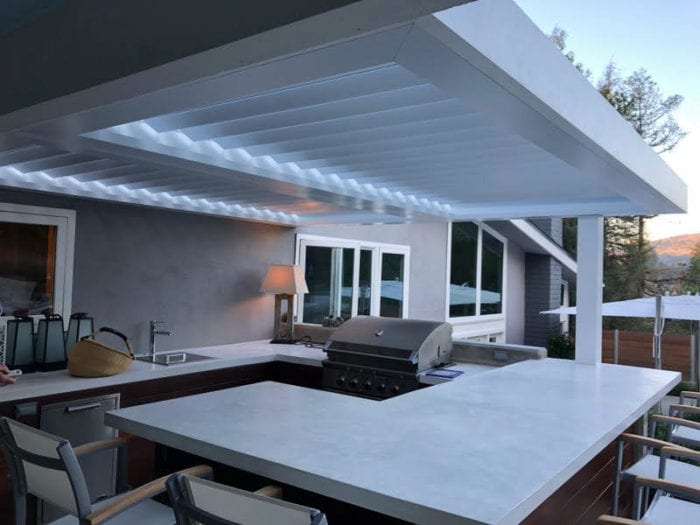 Apollo Outdoor Louvered Roof System - Breslow Home Design Center