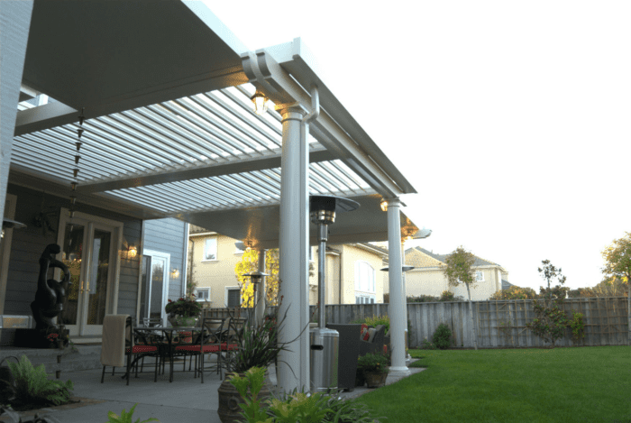 Apollo Lawn Side View - Louvered Roof System - Breslow Home Design Center