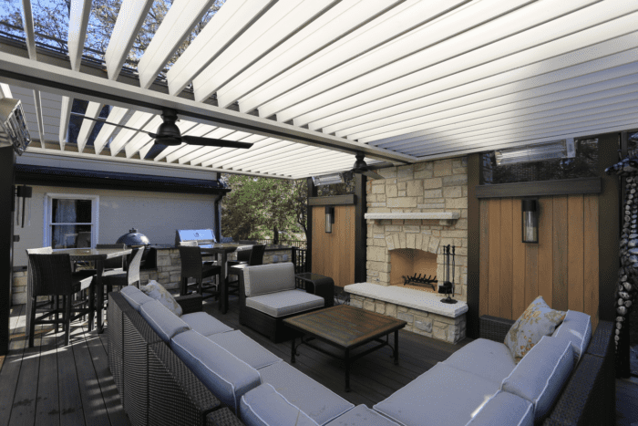 Apollo Under Patio View - Louvered Roof System - Breslow Home Design Center