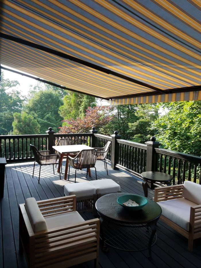 Awning under from left – Alutex Madera – Montclair NJ by Breslow Home Design Center