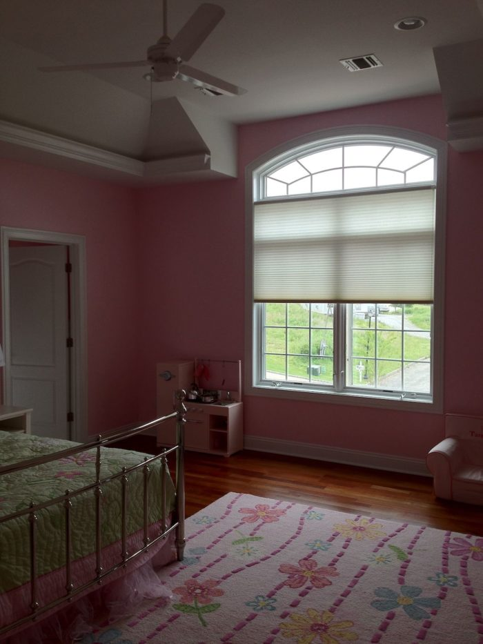 Hunter Douglas Duettes for Girls Bedrooms - light filtering - installed by Breslow Home Design Center