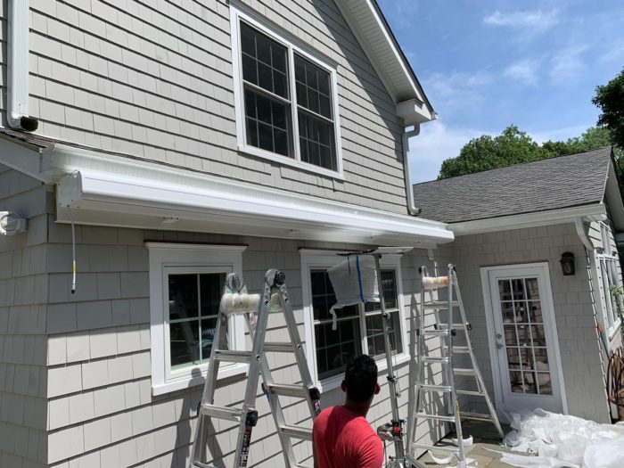 Installing NuImage K300 Awning in Hastings-on-Hudson NY by Breslow Home Design Center