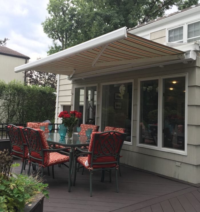 NuImage k300 fully cassetted awning - opening - by Breslow Home Design Center
