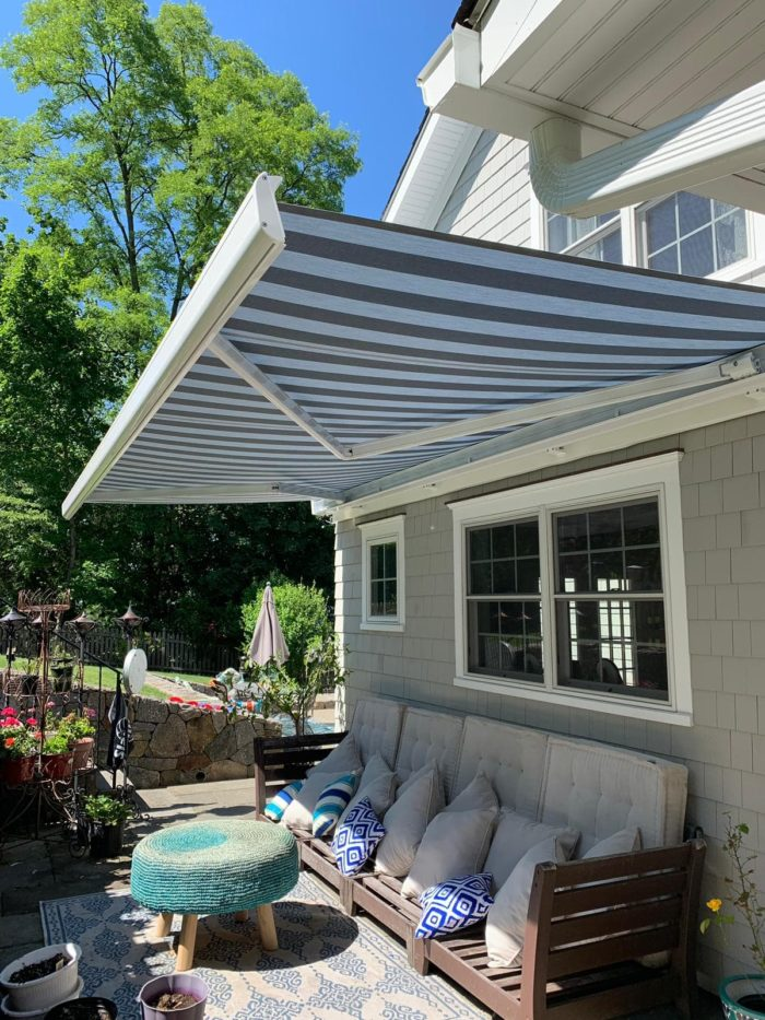 NuImage K300 Awning installed in Hastings-on-Hudson NY by Breslow Home Design Center
