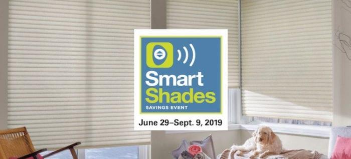 Hunter Douglas Smart Shades Savings Event thru Sept 9 2019 - Breslow Home Design Center