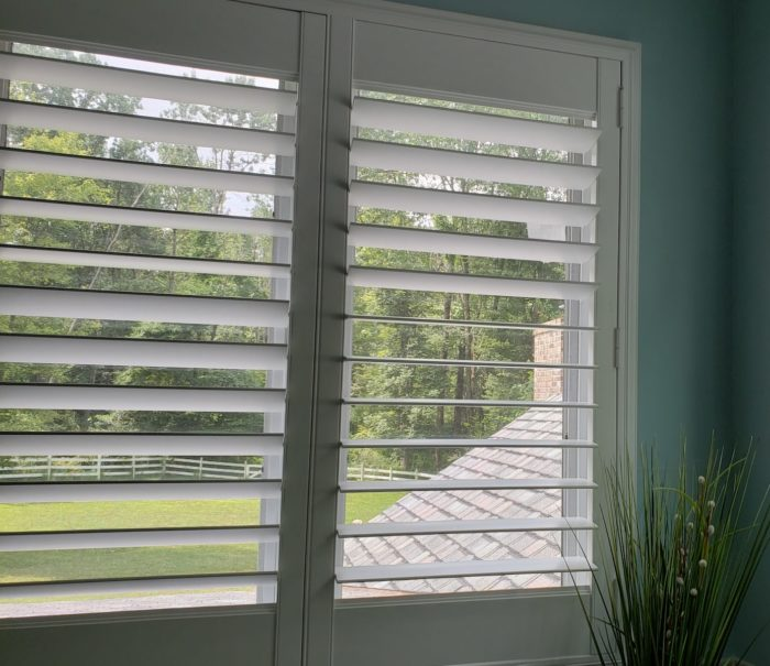 Louvered Plantation Shutters - outdoor - Mendham NJ - Breslow Home Design Center