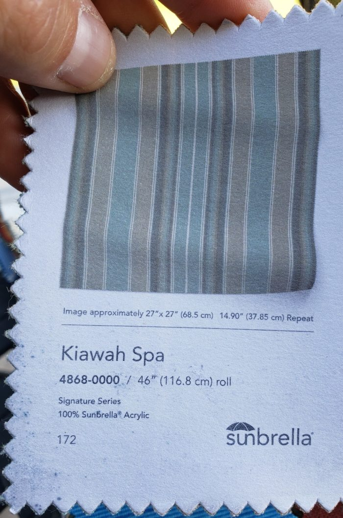 Sunbrella Kiawah Spa Fabric swatch - Breslow Home Design Center