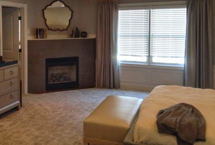 Blind with Drapery - Bedroom Side - Breslow Home Design Center