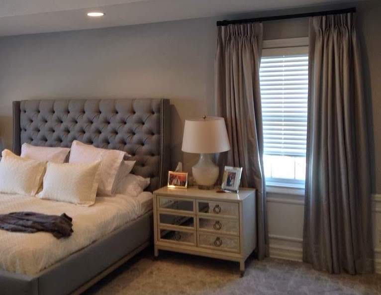 Blinds with Drapery - Bedroom - Breslow Home Design Center
