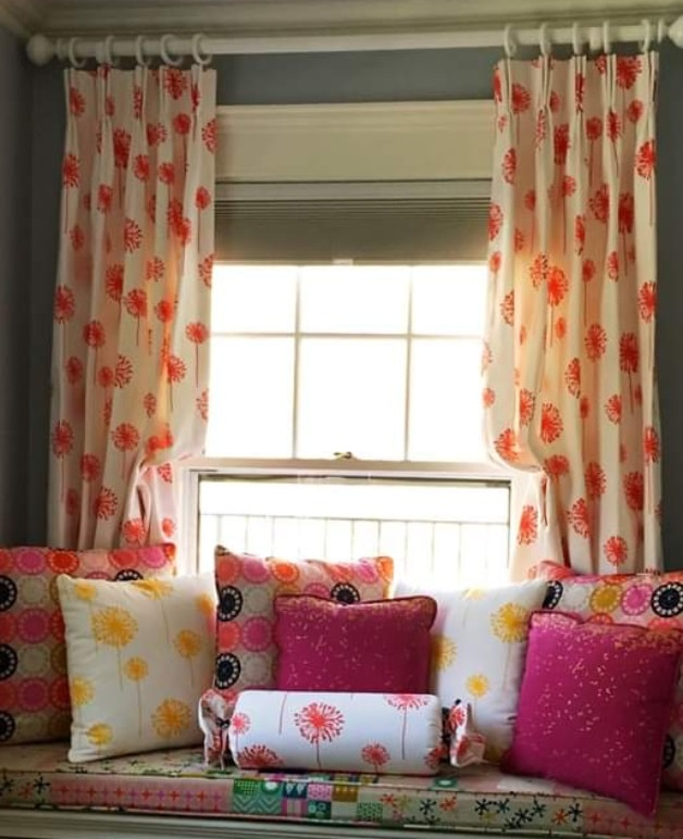 Colorful Drapery Panels - Pinch Pleats - Breslow Home Design Center