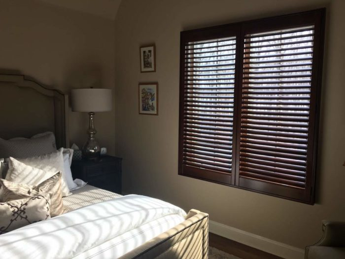 Hunter Douglas - Heritance Real Hardwood Shutters - Bedroom - Breslow Home Design Center