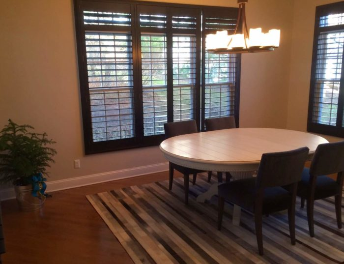 Hunter Douglas - Heritance Real Hardwood Shutters - Dining Room - Breslow Home Design Center