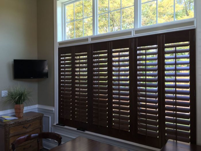 Hunter Douglas - Heritance Real Hardwood Shutters - window above - Breslow Home Design Center