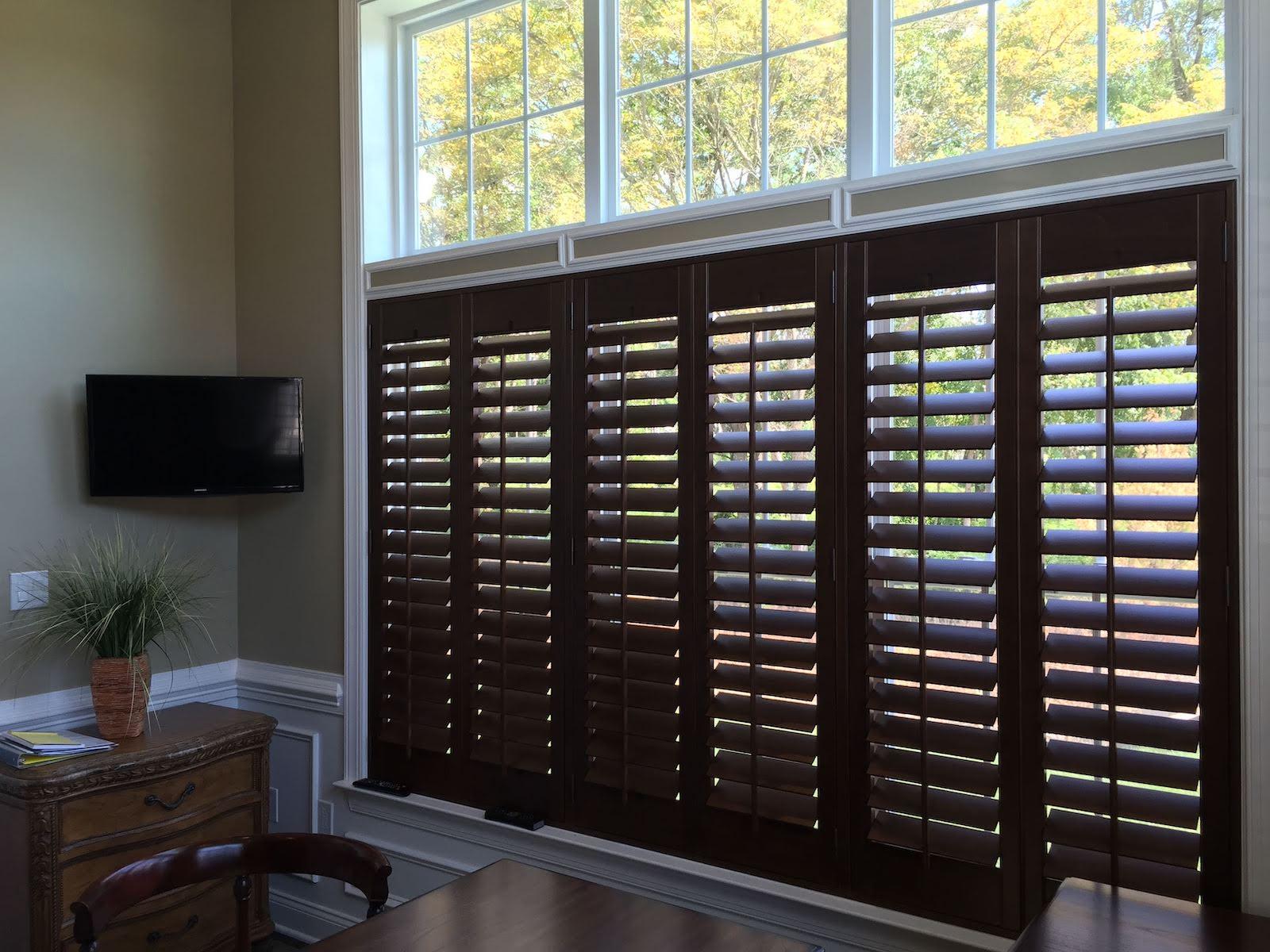 Hunter Douglas - Heritance Real Hardwood Shutters - window above - Breslow Home Design Center