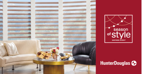 Hunter Douglas Season of Style Event thru Dec 9 2019
