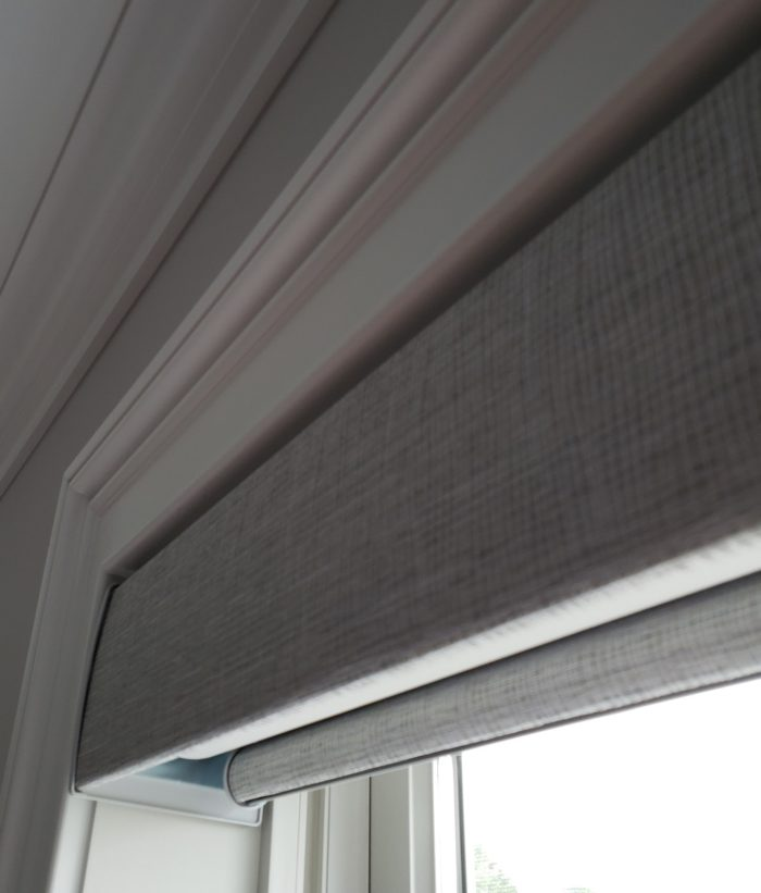 Designer Roller Shade Headrail - Close Up - Breslow Home Design Center