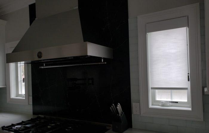 Designer Roller Shades in Kitchen - Breslow Home Design Center