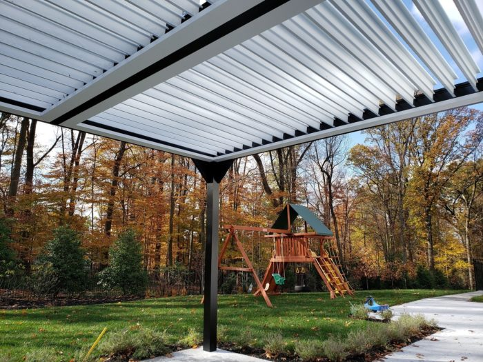 Apollo Louvered Roof System - Underneath - Saddle River, NJ - Breslow Home Design Center