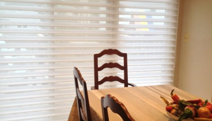 Silhouette in Dining Room - Vanes Open - Short Hills, NJ - Breslow Home Design Center