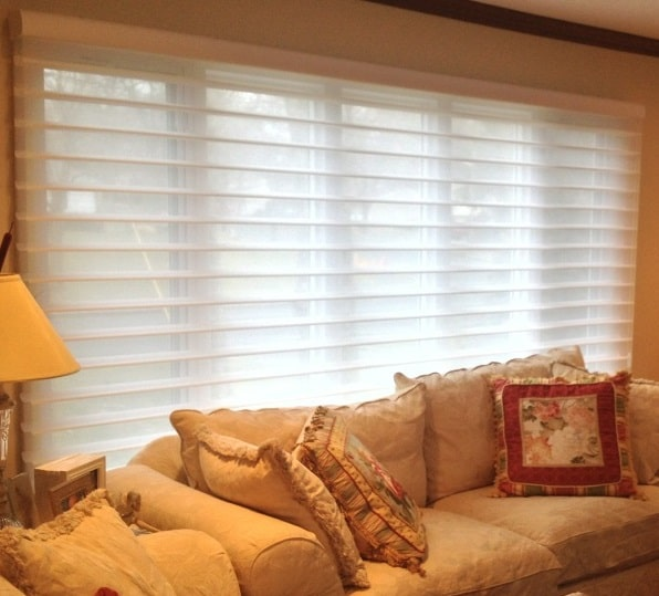 Silhouette in Living Room - Vanes Open - Short Hills, NJ - Breslow Home Design Center