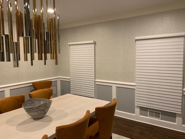 Silhouettes in Dining Room - Towaco, NJ - Breslow Home Design Center
