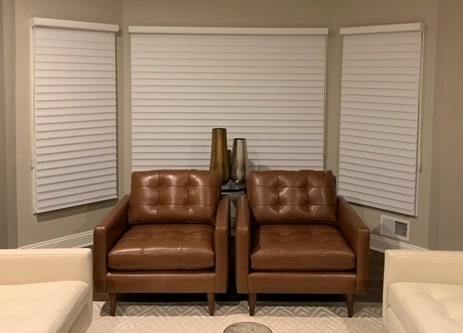 Silhouettes in Living Room - Towacco, NJ - Breslow Home Design Center