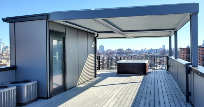 Apollo Louvered Roof System - Rooftop - Jersey City, NJ - Breslow Home Design Center