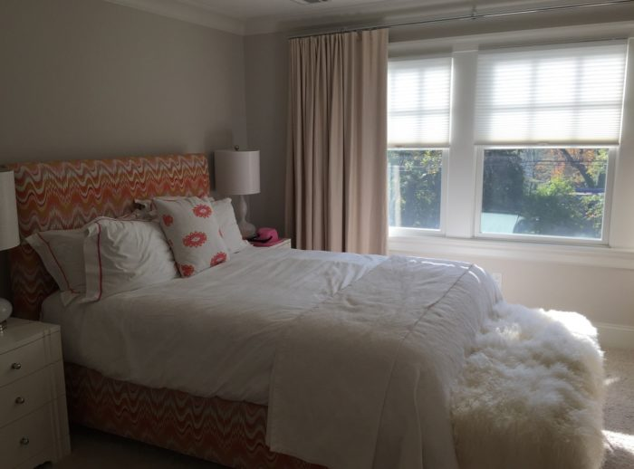 Duettes in Bedroom - Breslow Home Design Center