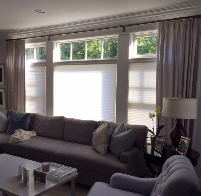 Duettes in Family Room - Breslow Home Design Center